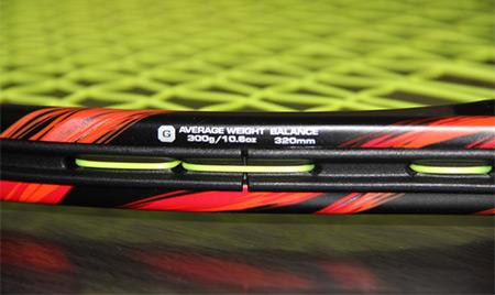 Raquette de tennis Yonex Vcore Duel G100 - poids et équilibre