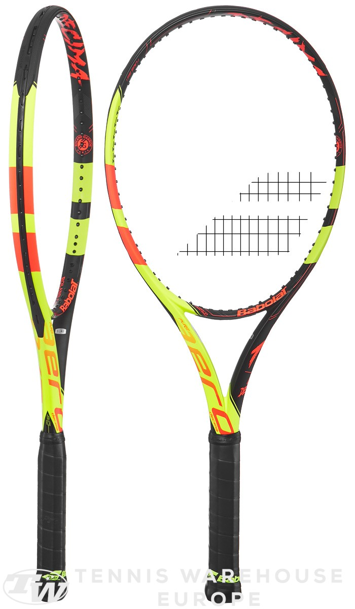 Homme Homme Babolat Pure Aero Team Strung NC Raquettes de Tennis Pure Aero Team Strung NC