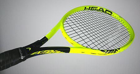 Raquette tennis Head Graphene 360 Extreme MP - vue de face inclinée