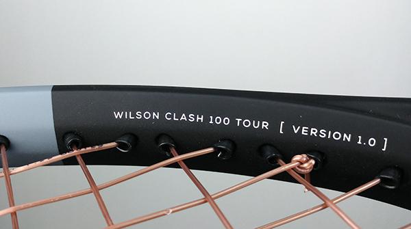 Intérieur du cadre de la raquette de tennis Wilson Clash 100 Tour